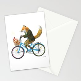 Fox goes to Tea (white) Stationery Cards