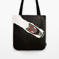 1975 Tote Bags featuring Stratos by Cale Funderburk