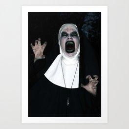 Valak Screaming Art Print