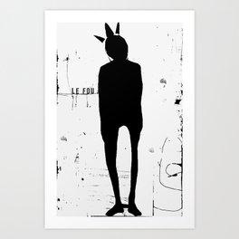 « le fou » Art Print