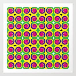 Swirly Pattern 1 Art Print