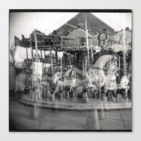 carousel Canvas Prints featuring Carousel by Ibbanez