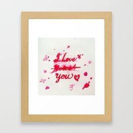 I Love Roses... I Mean, I Love You Framed Art Print