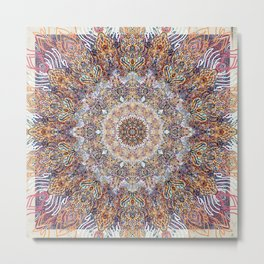 Creating the Space Ver II Mandala Metal Print