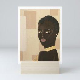 Mujer de Oro Mini Art Print