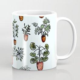 Succulent Houseplants in Terracotta Pots, Watercolor Cacti & Plant Wall Art Coffee Mug