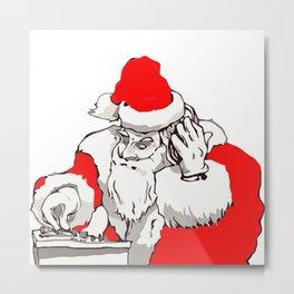 Merry Christmas DJ Santa Nonstop Remix Metal Print