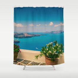 Santorini i Shower Curtain