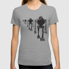 March Of The Robots Tri-Grey MEDIUM Womens Fitted Tee
