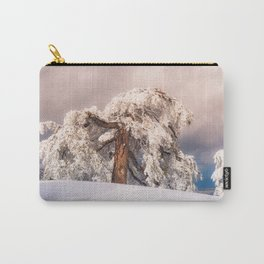 Frost Covered Pine Carry-All Pouch