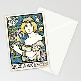 Paul Berthon Salon Des Cent Vintage Art Nouveau Stationery Cards
