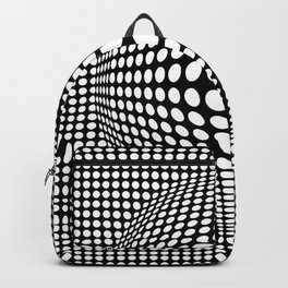 Black And White Victor Vasarely Style Optical Illusion Backpack