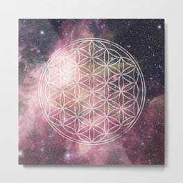 Sacred Geometry Universe 3 Metal Print