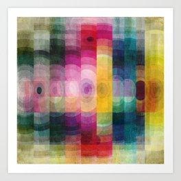 Pattern circle Art Print