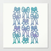 bows Canvas Prints featuring Bows by Jessica Slater Design & Illustration