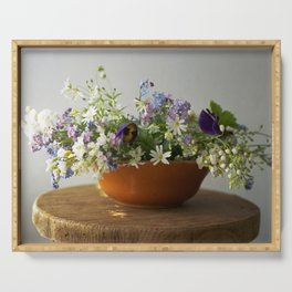 Spring floral composition - floral photography Serving Tray