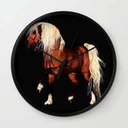 HORSE - Black Forest Wall Clock