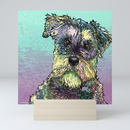 Schnauzer dog. Mini Art Print