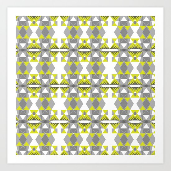 Neon threads Art Print