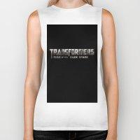 transformers Biker Tanks featuring Transformers Logo by Батзаяа Г.