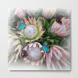 The King Protea Metal Print