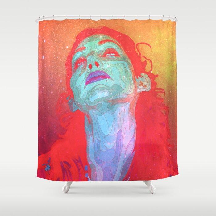 Grow Galactic Shower Curtain