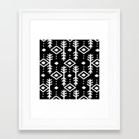 nordic Framed Art Prints featuring BLACK NORDIC by Nika