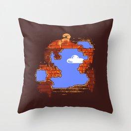 Brick Breaker Throw Pillow
