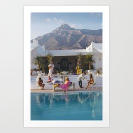What To Wear To a Slim Aarons Party Art Print