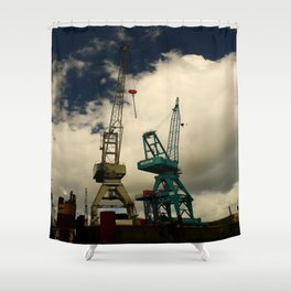 Harbor Crane Shower Curtain