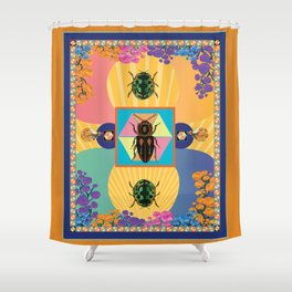 Embryonic Beetle Roach Milk Shower Curtain