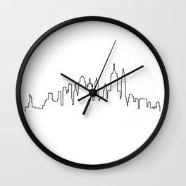 New York City Skyline Silhouette Wall Clock