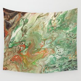 Copper on Green Wall Tapestry
