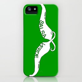 Chili Stache Green iPhone Case
