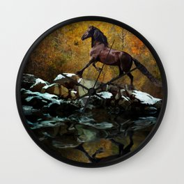 Reflections of Fall Wall Clock