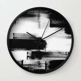 No. 85 Modern abstract black and white painting Wall Clock