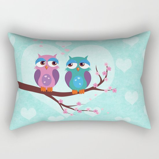 Love owls Rectangular Pillow
