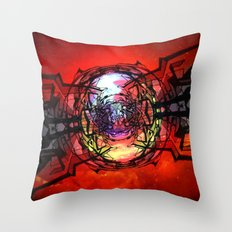 The Bifrost Generator during a firing sequence Throw Pillow