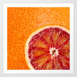 Blood Grapefruit Art Print