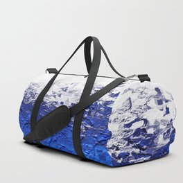 Contemporary Modern Textured Blue Abstract Duffle Bag