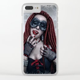 Moon Lust Clear iPhone Case