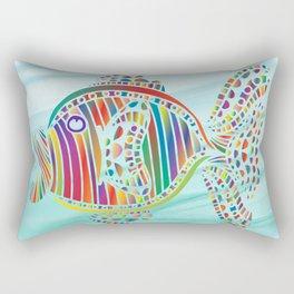 RAINBOW FISH MOSAIC Rectangular Pillow