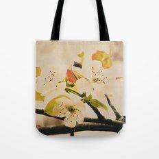 Spring Botanical -- Pear Tree in Flower Tote Bag