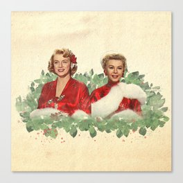 Sisters - A Merry White Christmas Canvas Print