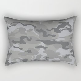 Camo Style - Gray Camouflage Rectangular Pillow