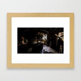 Candle maker Framed Art Print