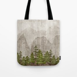 Mountain Range Woodland Forest Tote Bag