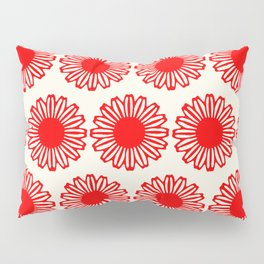 vintage flowers red Pillow Sham