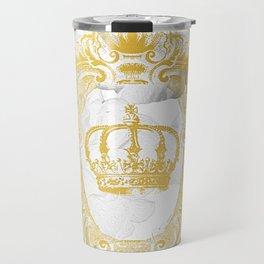 White Peonies Crown Travel Mug