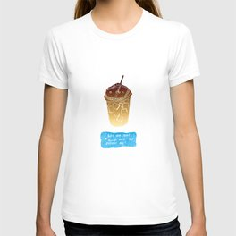 Iced Coffee: Woodblock Prints. Like One Cool Shower on a Hot Summer Day! T-shirt